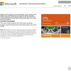 eLesson Microsoft : appréhender la diversité