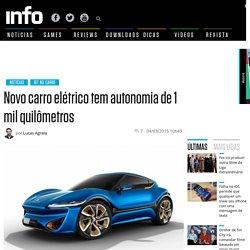 Novo carro elétrico tem autonomia de 1 mil quilómetros