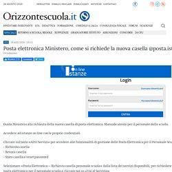 Posta elettronica Ministero, come si richiede la nuova casella @posta.istruzione.it [GUIDA]