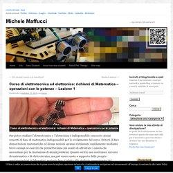 Corso di elettrotecnica ed elettronica: richiami di Matematica – operazioni con le potenze – Lezione 1