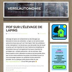 PDF sur l'élevage de lapins