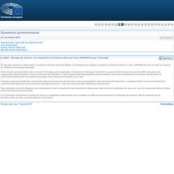 PARLEMENT EUROPEEN - Réponse à question E-015123-15 Élevage de saumon: non-respect de la directive-cadre sur l'eau (2000/60/CE) par la Norvège