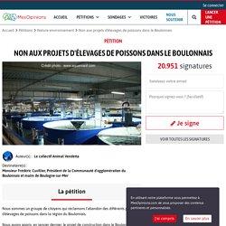 Non aux projets d'élevages de poissons dans le Boulonnais