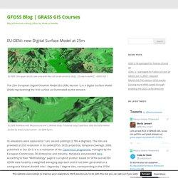 EU-DEM: new Digital Surface Model at 25m
