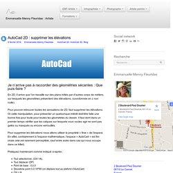 AutoCad 2D : supprimer les élévations - Emmanuelle Menny Fleuridas