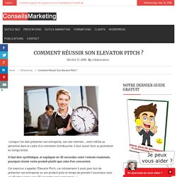 Comment réussir son Elevator Pitch ?