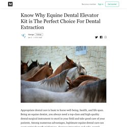 Know Why Equine Dental Elevator Kit is The Perfect Choice For Dental Extraction