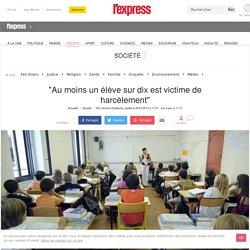 """""""Au moins un élève sur dix est victime de harcèlement"""""""