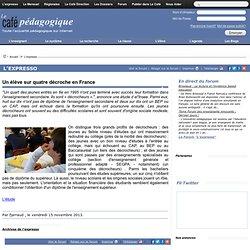 Un élève sur quatre décroche en France