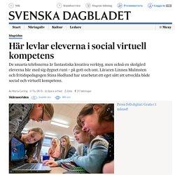 Här levlar eleverna i social virtuell kompetens