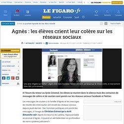 France : Agnès: les adolescents crient leur colère sur Twitter