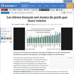 France : Les élèves français ont moins de profs que leurs voisins
