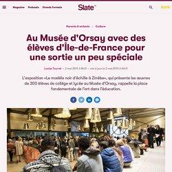 Au Musée d'Orsay avec des élèves d'Île-de-France pour une sortie un peu spéciale