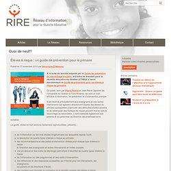 Élèves à risque : un guide de prévention pour le primaire