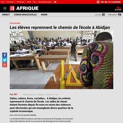 Les élèves reprennent le chemin de l'école à Abidjan
