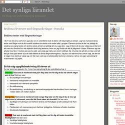 Bedöma elevtexter med färgmarkeringar - Svenska