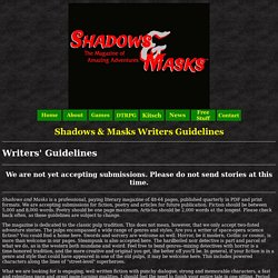 Shadows & Masks Magazine