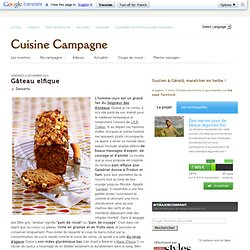 Gâteau elfique