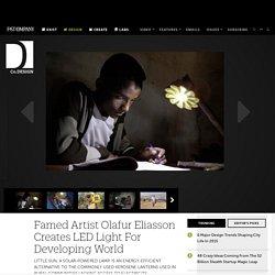 Famed Artist Olafur Eliasson Creates LED Light For Developing World