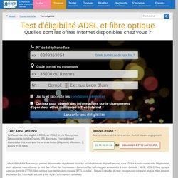 Test d'éligibilité à la fibre optique, à l'ADSL et au VDSL2