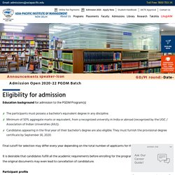 Registration Opens for PGDM Aspirants, Academic Year 2020-2022