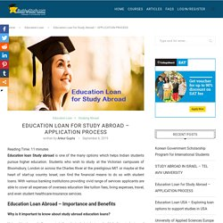 Education Loan Study abroad - Eligibility, Importance, Benefits, Providers