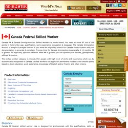 Canada Federal Skilled Worker Program, Eligibility Requirements