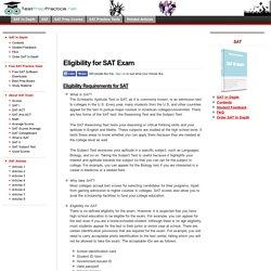 Eligibility for SAT Exam