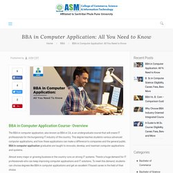 BBA in CA: Eligibility, Fees, Syllabus, Scope, Career
