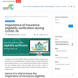 Importance of insurance eligibility verification during COVID-19