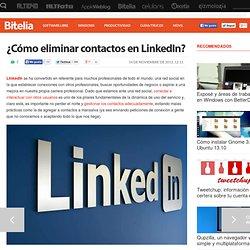 ¿Cómo eliminar contactos en LinkedIn?