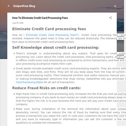 How To Eliminate Credit Card Processing Fees