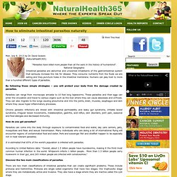 How to eliminate intestinal parasites naturally