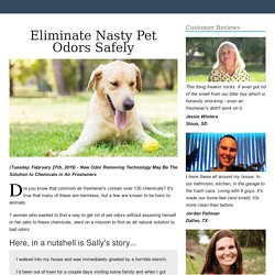 Eliminate Nasty Pet Odors Safely