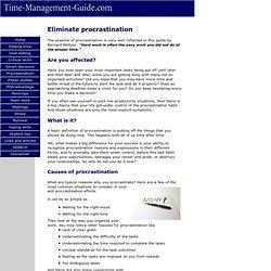 How to eliminate procrastination and laziness