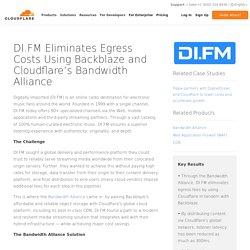 DI.FM Eliminates Egress Costs Using Backblaze and Cloudflare's Bandwidth Alliance