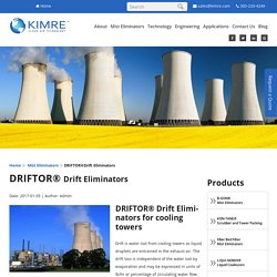 Drift Eliminator Cooling Tower - Kimre Inc