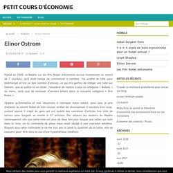 Elinor Ostrom - Petit cours d'économie