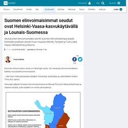 Suomen elinvoimaisimmat seudut ovat Helsinki-Vaasa-kasvukäytävällä ja Lounais-Suomessa