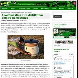 Eliodomestico : un distillateur solaire domestique