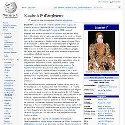 Élisabeth Ire d'Angleterre