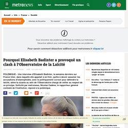 Pourquoi Elisabeth Badinter a provoqué un clash à l'Observatoire de la Laïcité