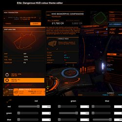 Elite: Dangerous HUD colour theme editor