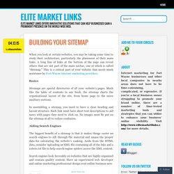 BUILDING YOUR SITEMAP