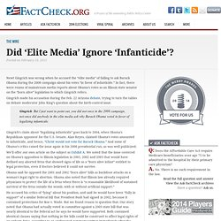 Did 'Elite Media' Ignore 'Infanticide'?