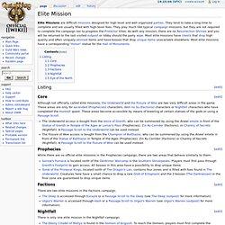 Elite Mission