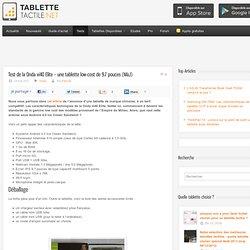 Test de la Onda vi40 – une tablette low-cost de 9.7 pouces