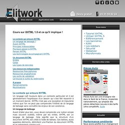 Tutoriel XHTML, cours pour apprendre les standards