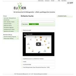 ELIXIER - Datenbank der Onlineressourcen deutscher Bildungsserver