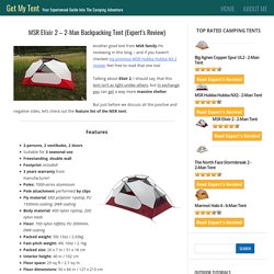 MSR Elixir 2 – 2-Man Backpacking Tent (Expert's Review)
